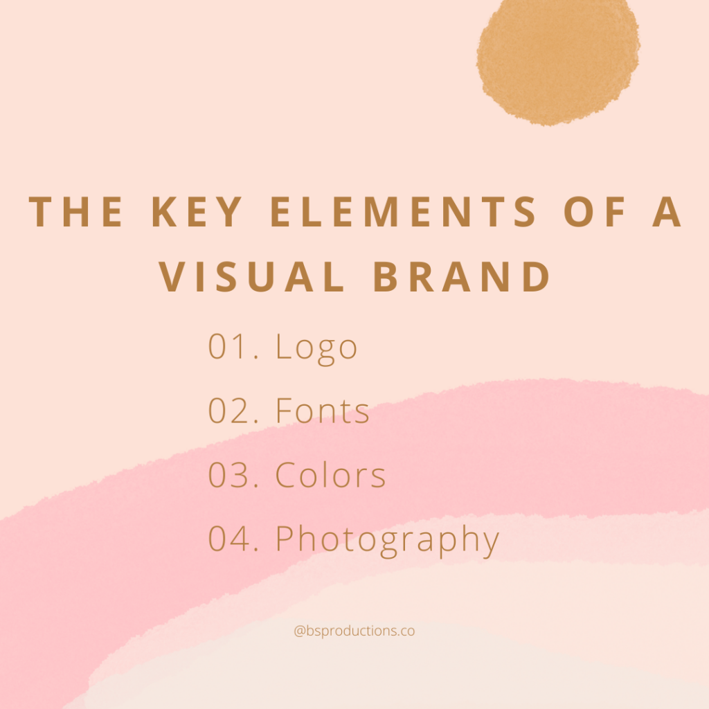 The Key Elements of a visual brand: Logo, fonts, colors, photography